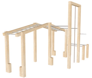 Wooden Outdoor Gym Set