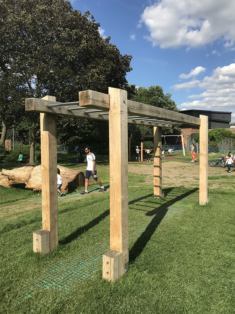 outdoor fitness monkey bars