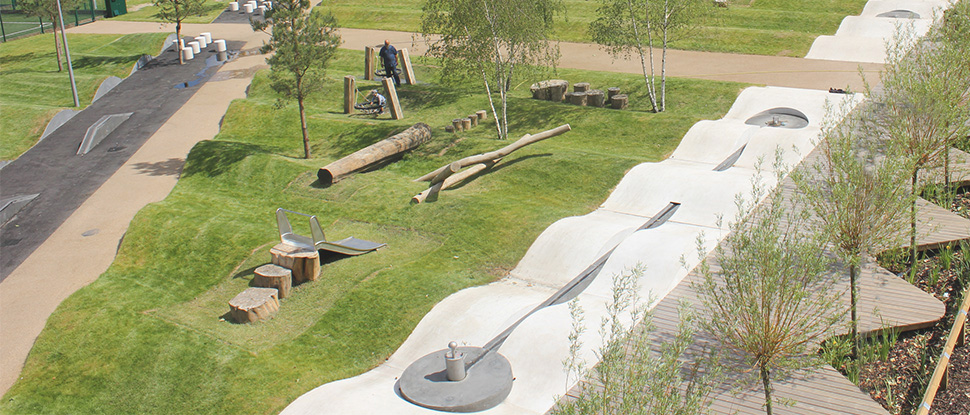 wooden playground equipment for parks