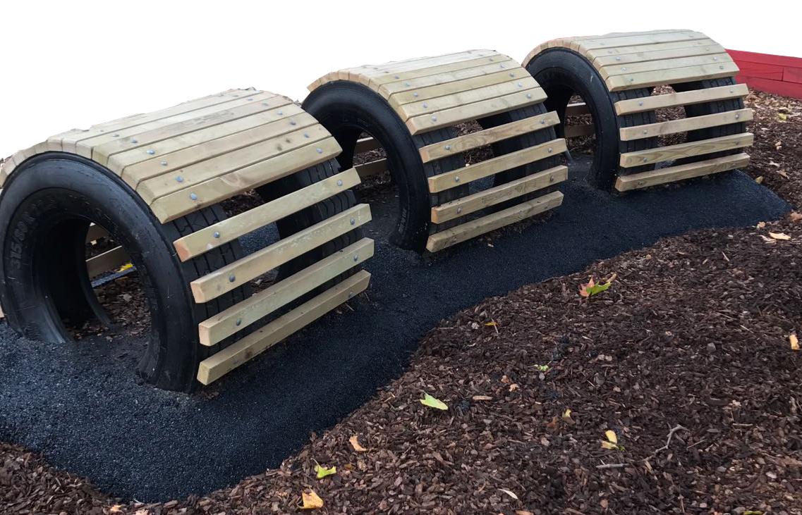 Playground tyres